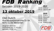 Uitslag FDB Ranking 13-10-2019