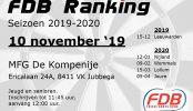 Uitslag FDB Ranking 10-11-2019