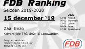 Uitslag FDB Ranking 15-12-2019