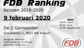 Uitslag FDB Ranking 09-02-2020